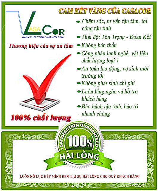 Cam kết của Xây Dựng CASACOR